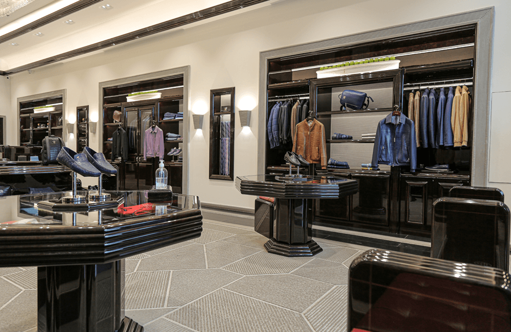 Interior design for Stefano Ricci in The Dubai Mall - Ashtaar Interiors