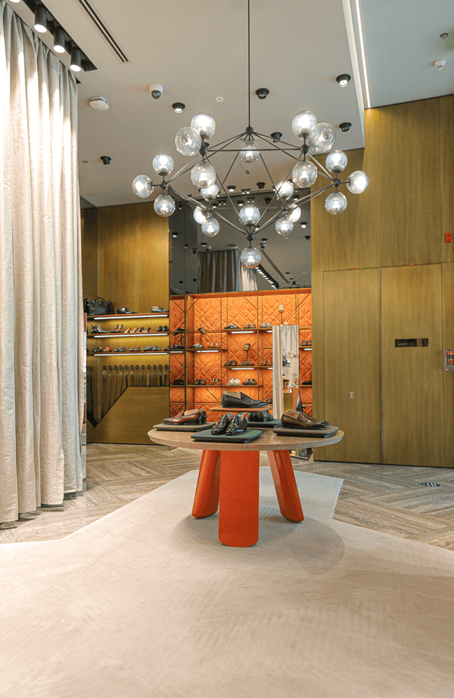 Interior design for Santoni in The Dubai Mall - Ashtaar Interiors
