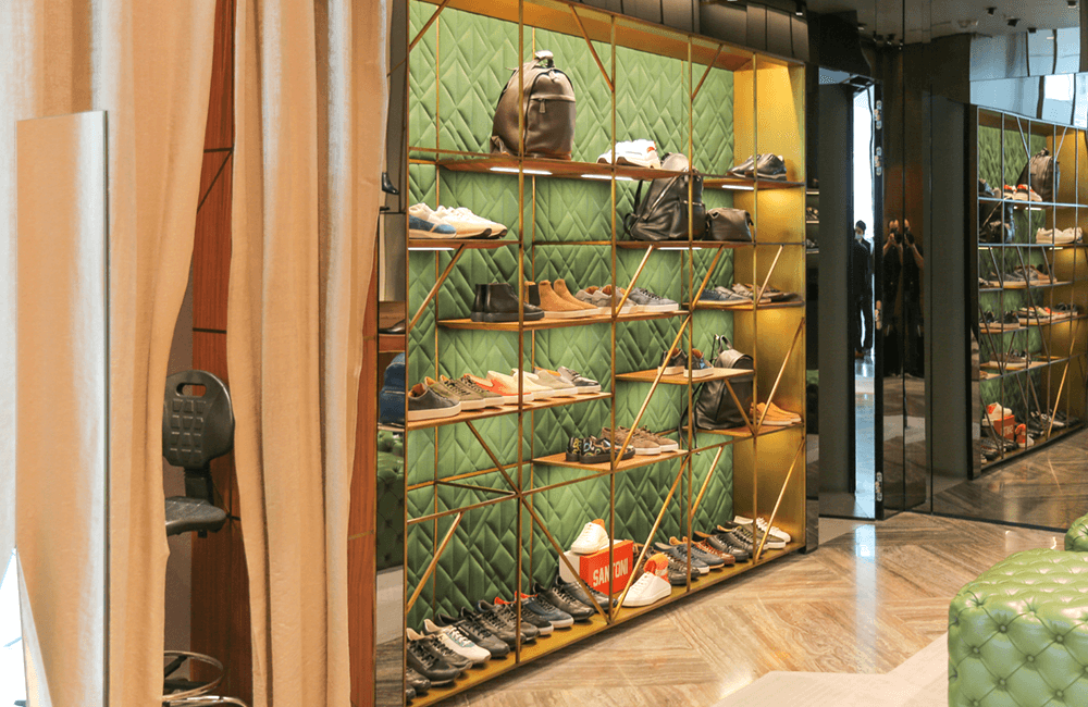 Santoni in The Dubai Mall - Ashtaar Interior Design for luxury interior design
