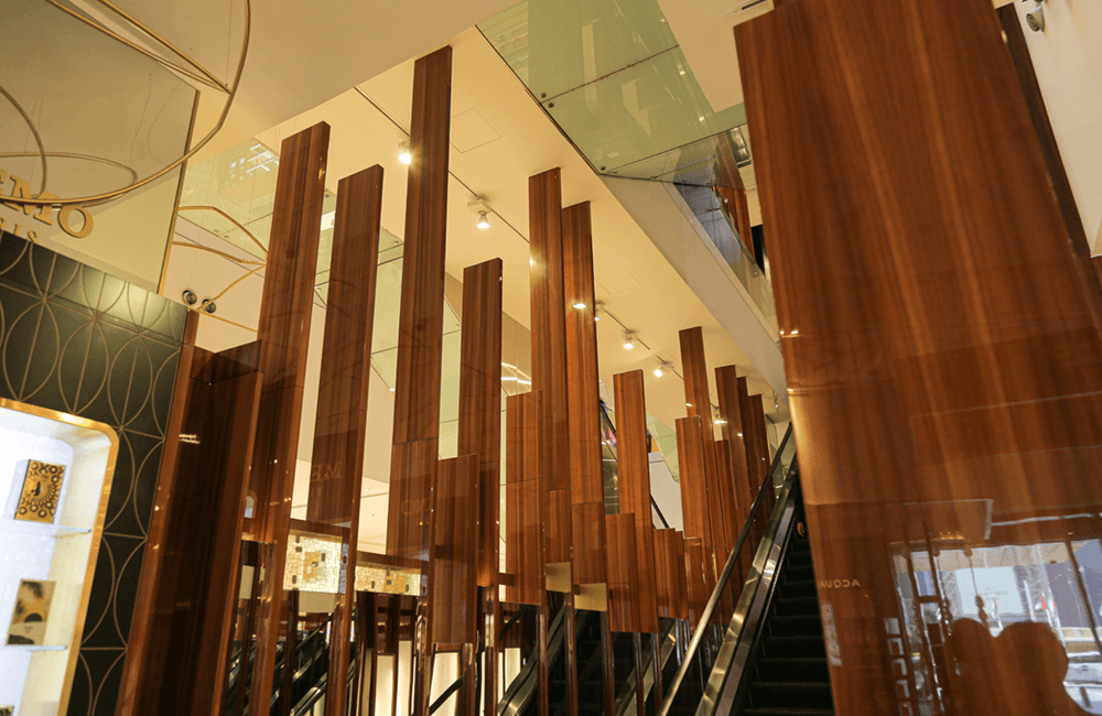 Architectural design for Galeries Lafayette in The Dubai Mall - Ashtaar Interiors