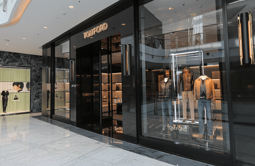 Architectural design for Tom Ford in The Dubai Mall - Ashtaar Interiors