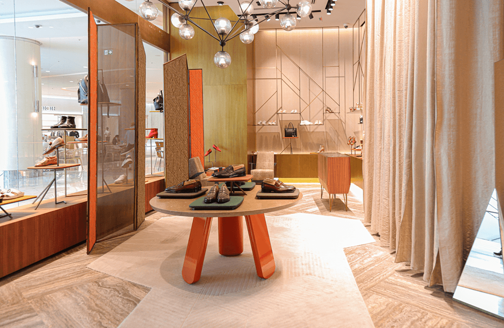 Architectural design for Santoni in The Dubai Mall - Ashtaar Interiors