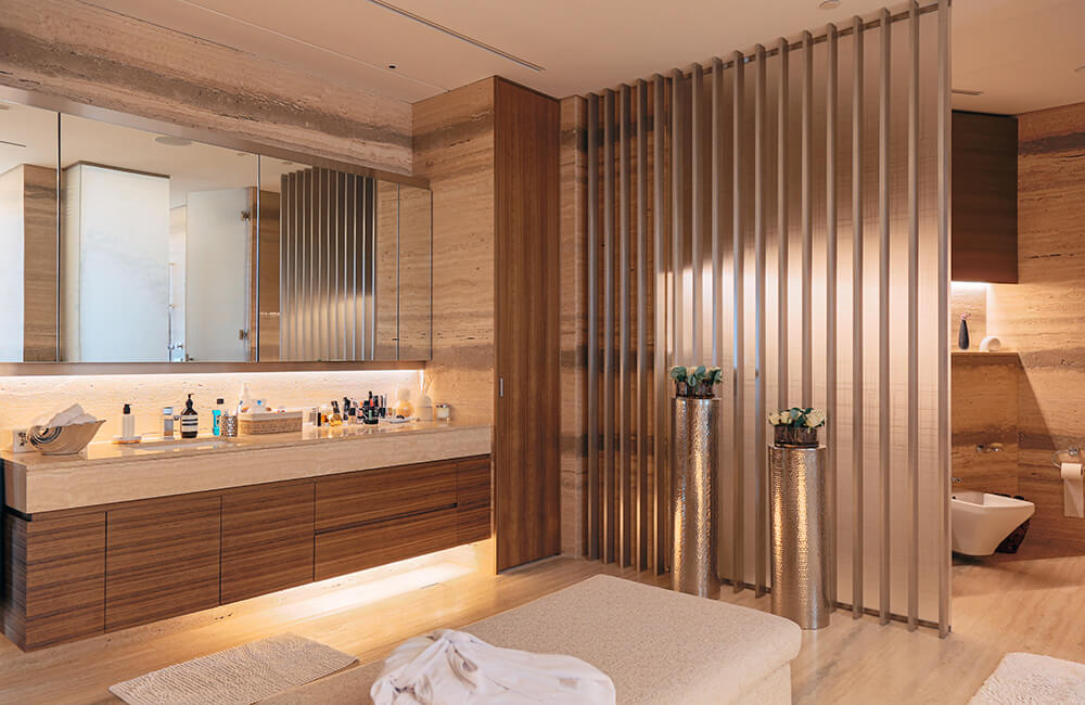 Interior Design for Private Apartment in Volante Tower, Volante Baster Bathroom - Ashtaar Interiors in Dubai