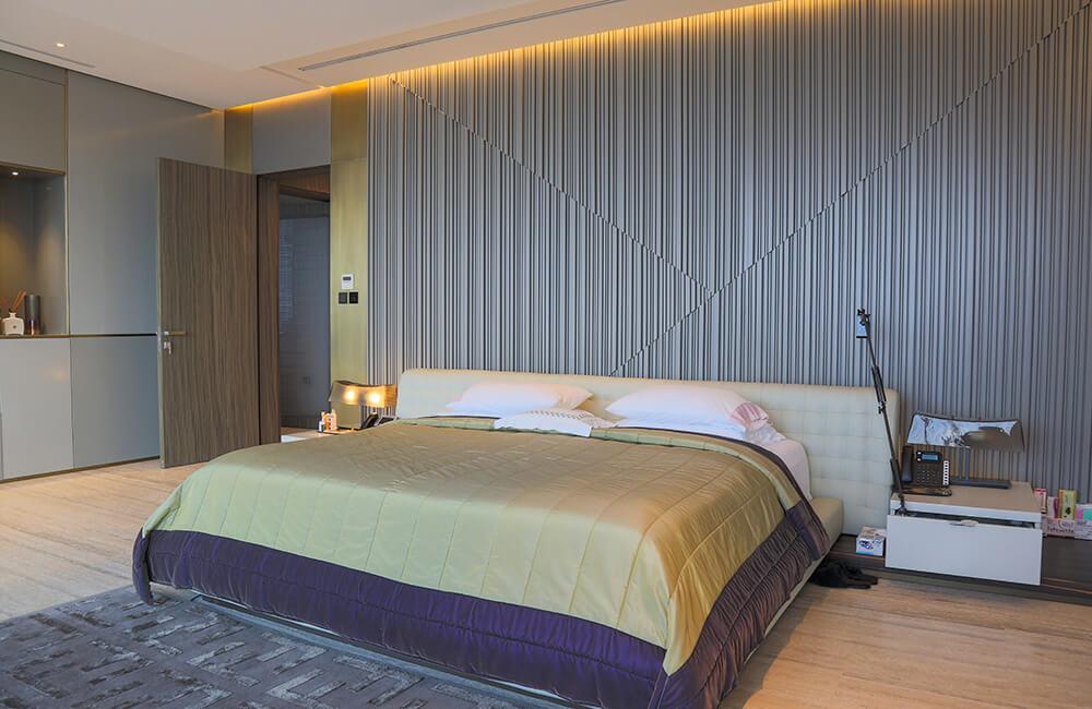 Interior Design for Private Apartment in Volante Volante Bedroom Wall - Ashtaar Interiors in Dubai