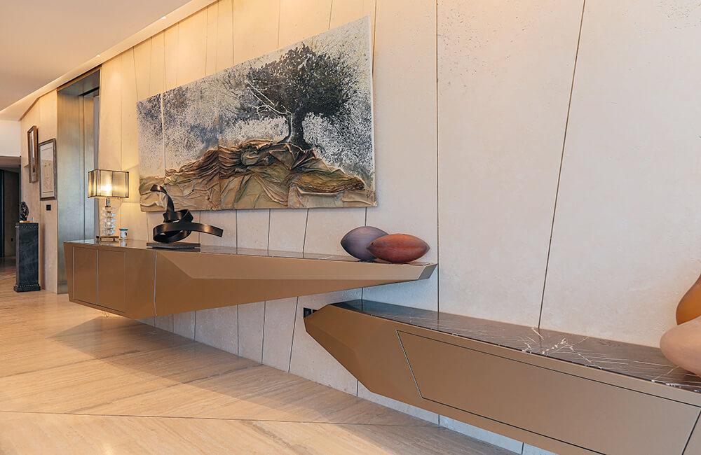 Interior Design for Private Apartment in Volante Volante Console - Ashtaar Interiors in Dubai