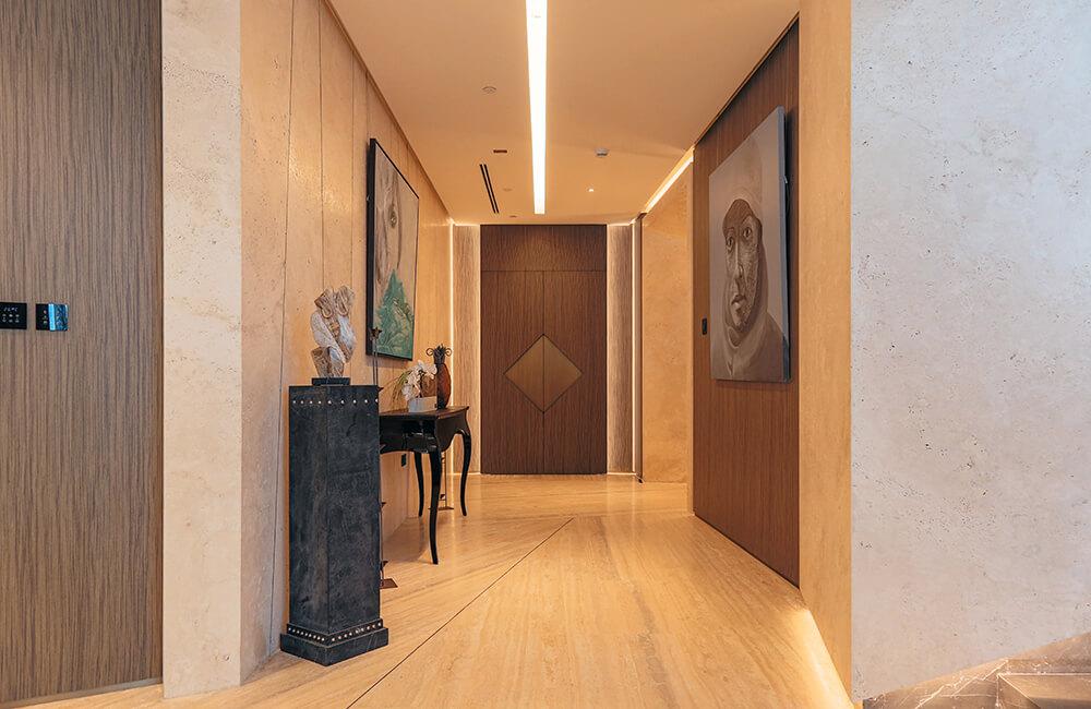 Interior Design for Private Apartment in Volante Tower Volante Entrance - Ashtaar Interiors in Dubai