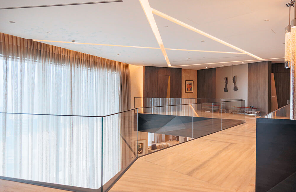 Interior Design for Private Apartment in Volante Tower Volante Marble & Wood - Ashtaar Interiors in Dubai