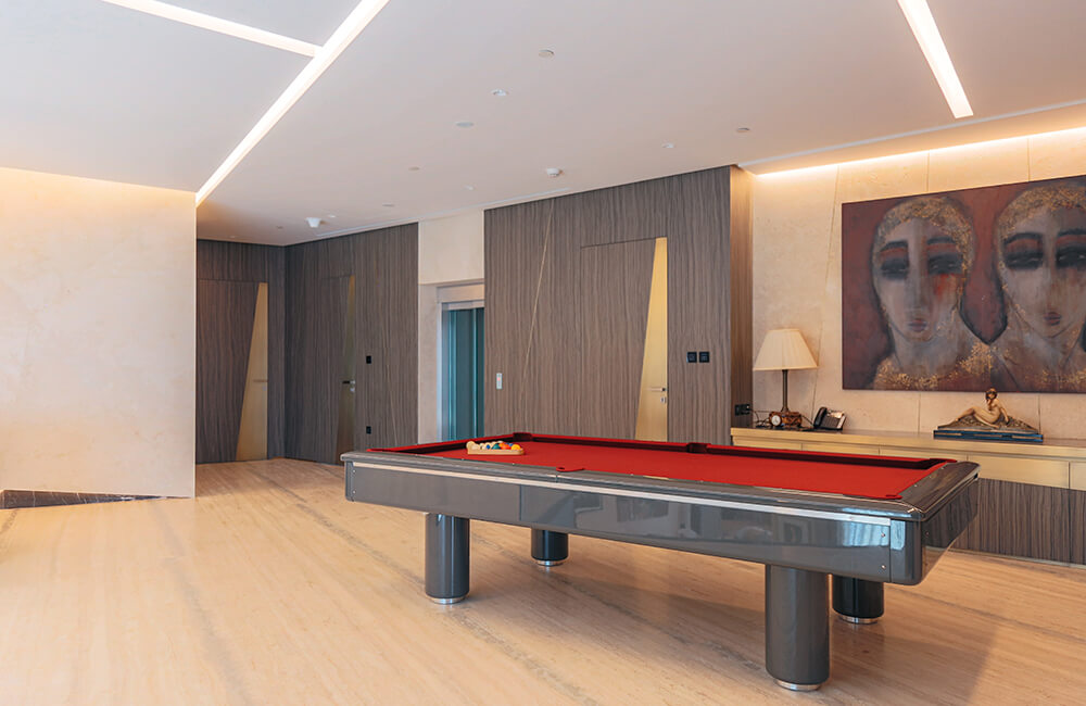 Interior Design for Private Apartment in Volante Tower Volante Open space - Ashtaar Interiors in Dubai
