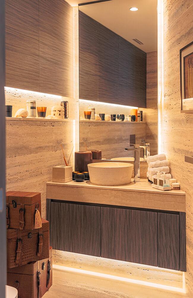 Interior Design for Private Apartment in Volante Tower Volante Powder room - Ashtaar Interiors in Dubai