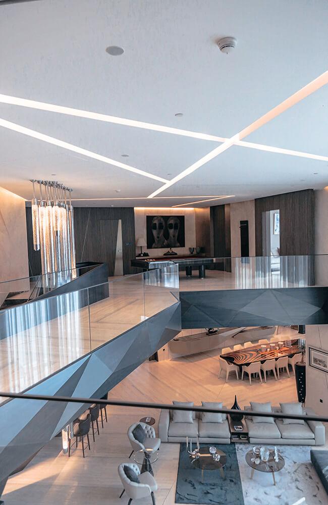 Interior Design for Private Apartment in Volante Tower Volante Salon - Ashtaar Interiors in Dubai